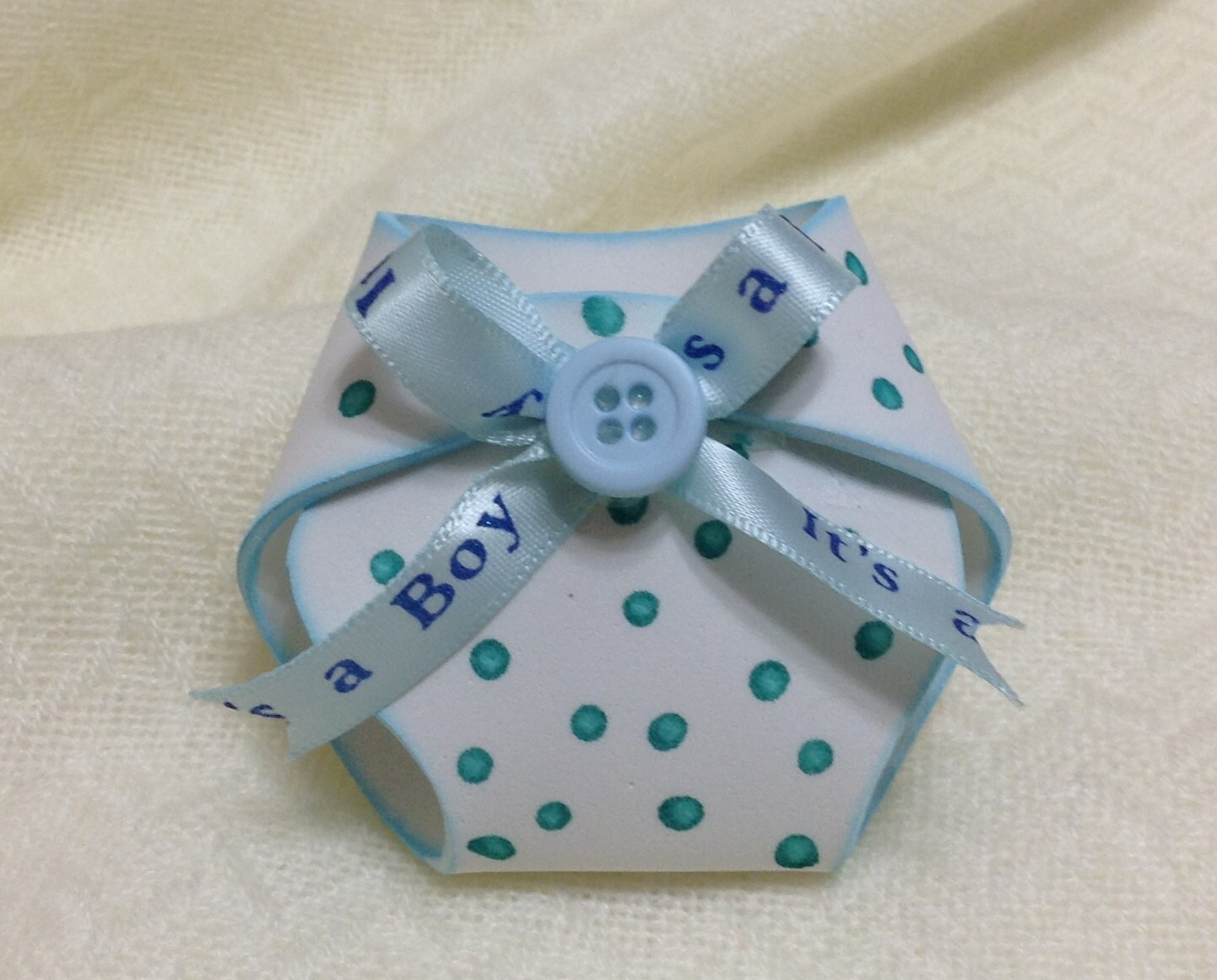 white and blue diaper baby shower favors baby boy shower