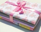 Various Patterns - Set of 4 Swaddle/Receiving Blankets for Baby Girl