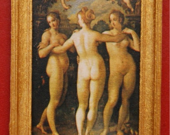 "Dollhouse Framed Fine Art Stamp ""The Three Graces"""