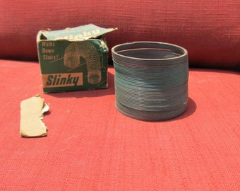 Slinky Toy; original box; 1950's REAL DEAL