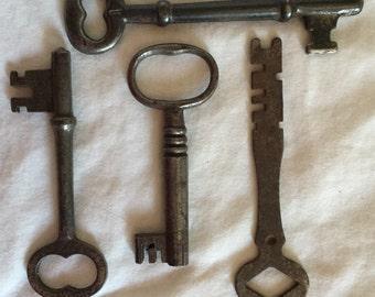 Cool lot of antique keys