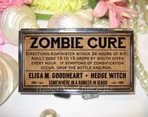 Pill Case, 7 day Pill Box, Pill Case, Pill Box, 7 Sections, Pill Container, Best Friend Gift, Gift for Him, Medicine Organiser, Zombie.