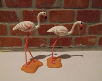 Britains 1970s vintage Plastic Pair Of Flamingos
