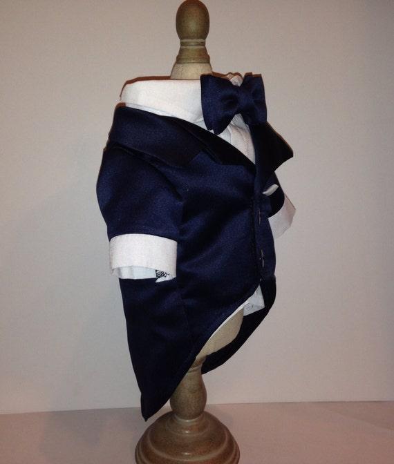 Navy Blue Dog Tuxedo