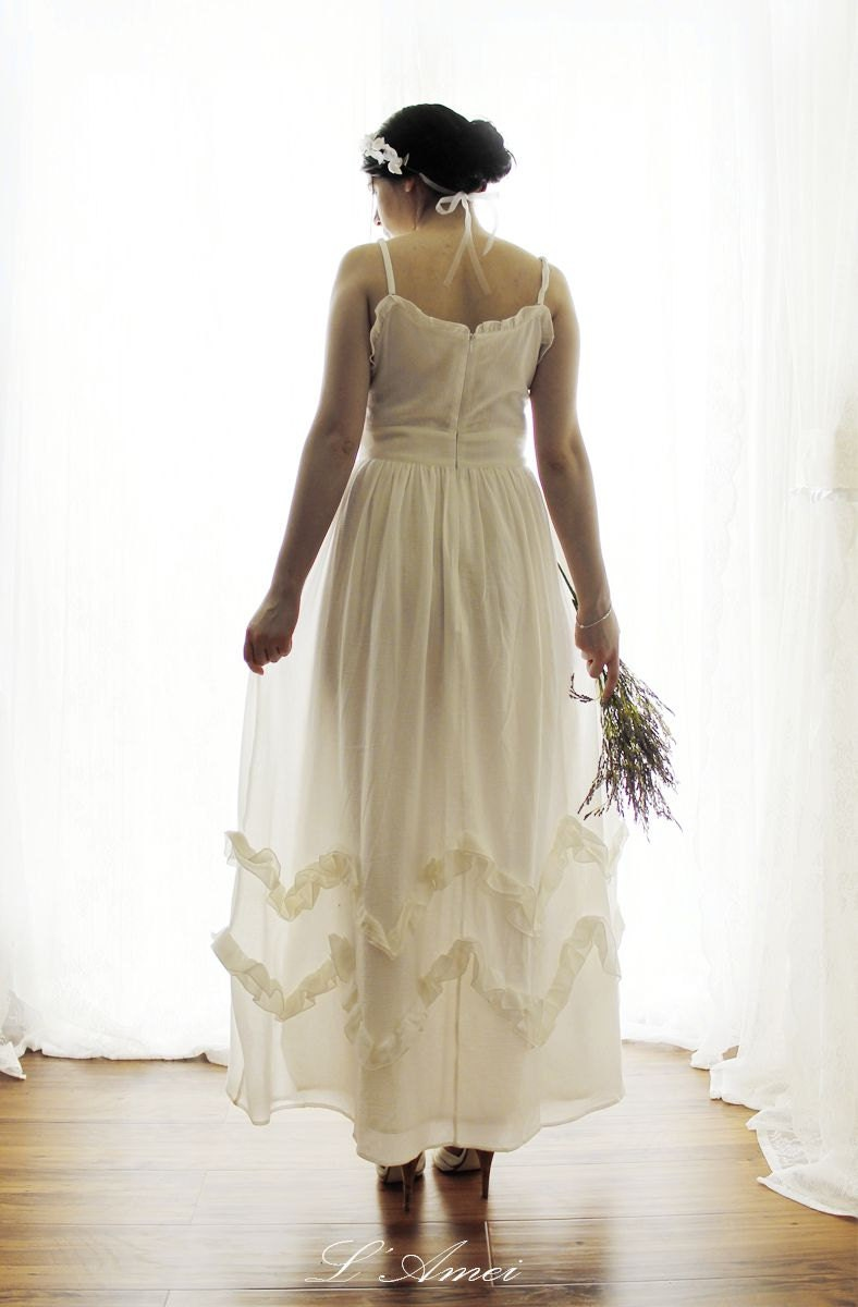 Freedom Custom Made Cotton Beach Wedding Bridal Dress By LAmei