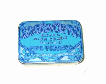 Vtg. Edgeworth Sliced Tobacco Tin - Richmond, VA