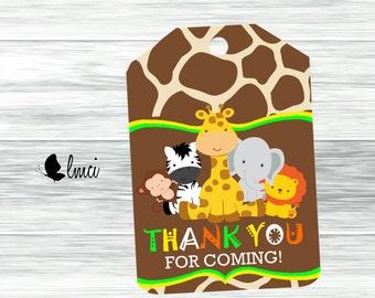 Baby Safari Gift Tags, Instant Download - Digital File