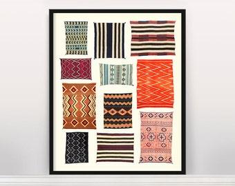 Navajo Rug Typology - Native American Art - Native American Design - Southwest - Southwestern Art - Rugs - Tapestry - Tapestry Design