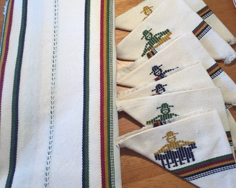 Traditional Guatemalan Tablecloth with Matching Napkins