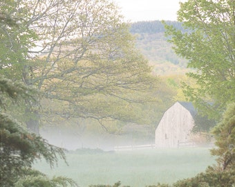 Country barn morning mist digital download home decor