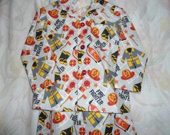 "Size 5 Boys ""Firemen"" Pajama"