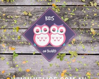 Kids on Board - Owl Car Sticker (Baby on Board)