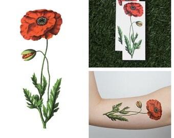 Poppy Lock and Drop It- Temporary Tattoo (Set of 2)