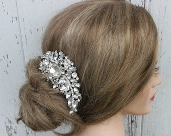 Large Rhinestone Crystal Bridal Hair Comb/ Wedding Comb