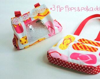 SALE flip flops and polka dots I Spy bag