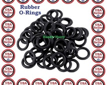 200) pieces O-Rings Rubber ORings Black O-Rings DIY Craft Inner Diameter Outer Diameter 13mm Shockproof Works great for tattoo Machines also