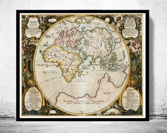 Antique Old World Map Antique 1652