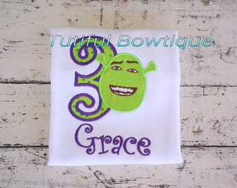 Shrek birthday shirt