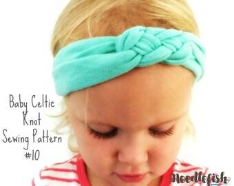 BABY KNOT HEADBAND Sewing Pattern - Celtic Knot Headband Sewing Pattern - Sailor Knot Headband - Adult Headband - Baby Knotted Headband