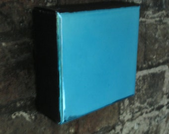 Metalic Art, Wall Art Collection.Modern Art,Small Paintings,Blue Decorating, Blue Painting