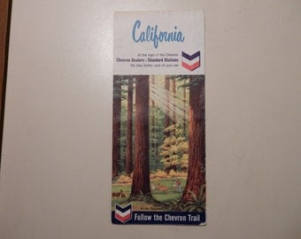 1965 Chevron California Map