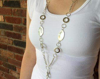 Silver Style Lanyard Necklace