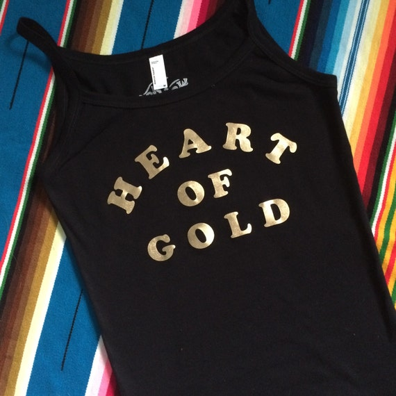 Heart of Gold spaghetti strap tank