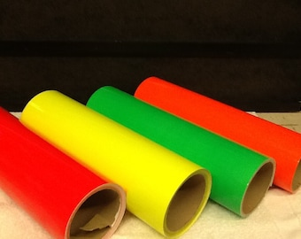Fluorescent Neon adhesive sign vinyl 12in sold by the foot wrap sticker craft sheet roll