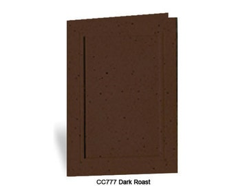 Photo Insert Note Cards, Dark Roast - 10 cards and envelopes, 100% recycled & made in the USA