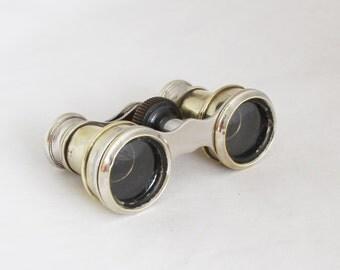 1930s French Brass Opera Glasses Binoculars Theater Glasses