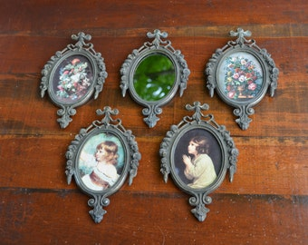 Florentine Pictures Made in Italy Paris Apartment Wall Grouping Group of 5 Small Florentine Pictures I Ship Worldwide