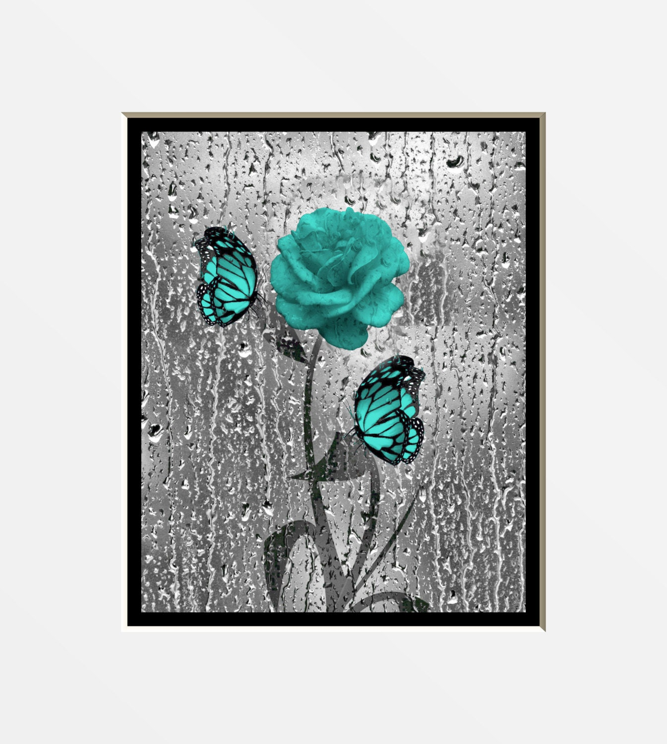 Turquoise gray wall art by littlepiephotoart on etsy for Turquoise wall decor