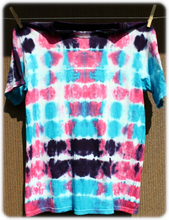 Beautiful Pink, Blue and Purple Tie Dye T-Shirt