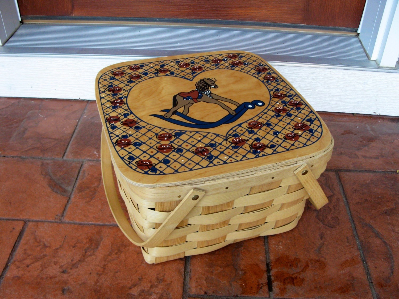 Man Cave Putney : Basketville picnic basket putney vt wicker by oakiesclaptrap