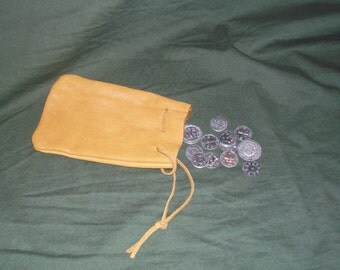 Medium pouch with 12 replica viking age coins