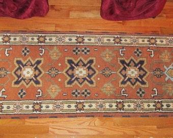"2'2"" x 6'8"" Kazak Runner Kazak Rug  1930's HAND KNOTTED  Wool"