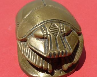 Bronze Scarab Paperweight.
