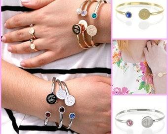 Monogrammed Birthstone Bracelet