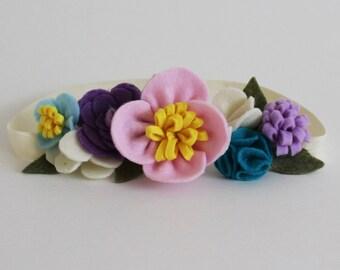 Lucia Spring Felt Flower Mini Crown