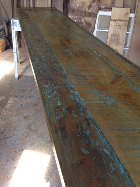 reclaimed wooddining table top bar top12ft x 2ft Distressed : il570xN789142718newm from www.etsy.com size 570 x 760 jpeg 100kB