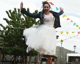 Off white Ballerina tulle skirt