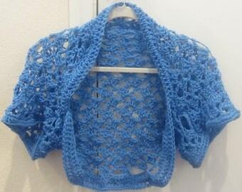 Crochet Pattern Shrug Sweater Summer Spring Wedding Shrug