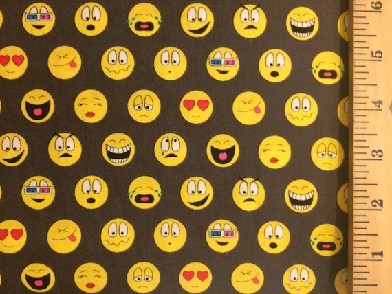 Unavailable listing on etsy for Emoji fabric