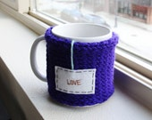 Knit Coffee Mug Cozy, Lov...