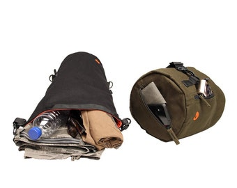 Duffle Bag | 20 Litre Canvas Bag, Shoulder Bag, BackPack, Crossbody Bag, Hobo Bag, Dry Bag - HEAVY DUTY - 1 Year Warranty