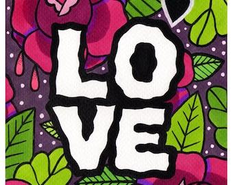 ARTPRINT DINA5 - LOVE