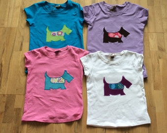 Tilly the dog Girls fitted T shirt