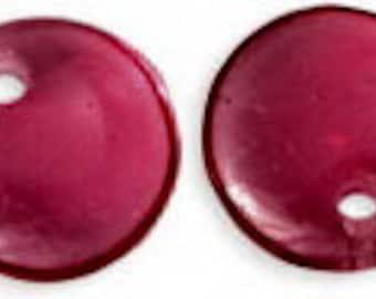 Fuchsia Czech Lentil Beads 6 mm, 50 pieces (7035)