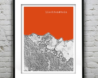 Liechtenstein Skyline Poster Art Print