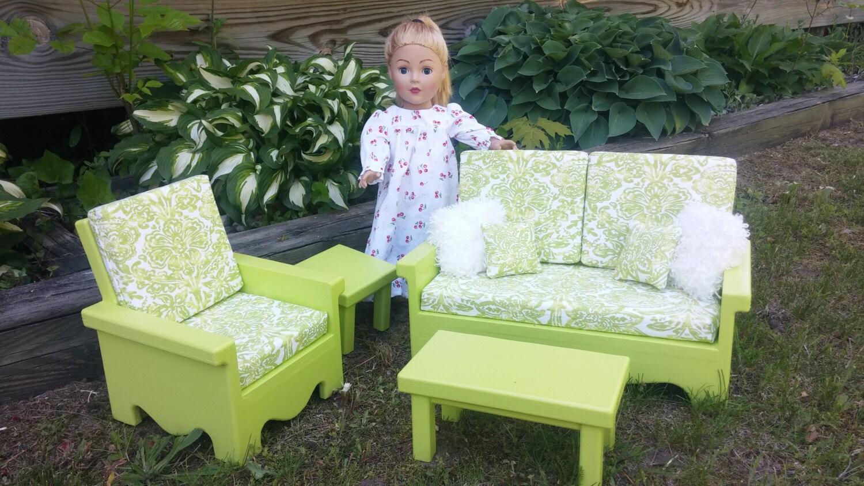 Living room set for american girl doll green